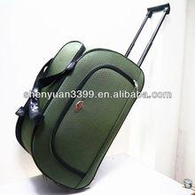 Fashion EVA trolley bag with aluminum retractable urban trolley bag
