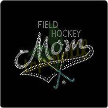 Greatest Field Hockey Mom Rhinestone Design Crystal Heat Transfer Wholesale Clothing Accessories