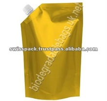 Wing packaging Bag with Spout