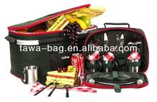 4 person disposable picnic basket set TWPB-33004D150