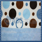 2013 Hot Sale 100% Polyester Mylar Blanket With Minky Dot Fabrics For Baby