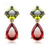 MJ 2014 new design fashion zircon Gold earrings