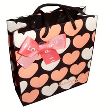 Paper Bag with handle shopping bag small kraft paper bag with flat paper handle