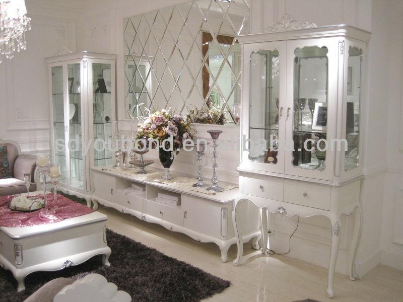 2014 meubles de salon yb07 cabinet blanc meubles en bois for Meuble salon bois blanc