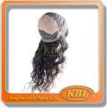 Grado 7a pelo de la virgen, cabello humano peluca llena del cordón, fuente de alimentación 7a peluca de cabello humano
