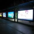Led publicidad caja de luz de la parada de autobús