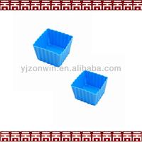 Square shape mini silicone cup cake cake mould