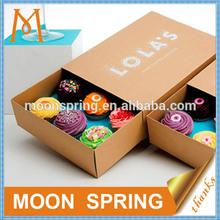 Moonspring custom paper cupcake box wholesale