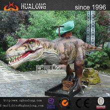 Funny playground 4m long dinosaur rides