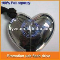 Free shipping & Logo usb flash drive heart shape Accept paypal