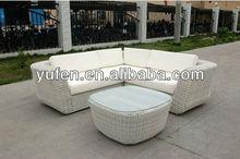 alumínio móveis de vime sofá de terraço conjunto
