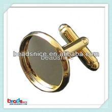Beadsnice ID 23653 wholesale alibaba Jewelry making supplies brass cufflink base tie clip cufflink set