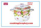 Ceramic cookware coloured/enameled coloured pots/non-stick cookware set