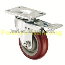 Medium Duty Swivel PU outdoor caster For Furniture, Hardware, Industrial