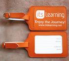 custom logo leather luggage tag template/leather luggage tag/leather bag tag