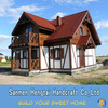 New and Cheapest Prefabricated finland log house/log cabins/log homes