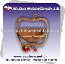 Apple shaped bamboo folding fruit basket