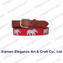 Men's Fashion Leather Needlepoint Belts