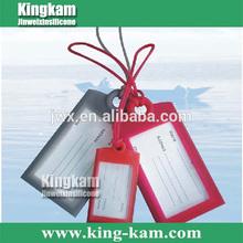 2014 fashion luggage FDA tag Promotion Eco-friendly custom wholesale Silicone luggage tag