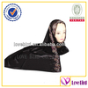 dark black muslim style hijab