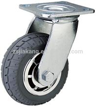 Hotel trolley caster, Heavy duty ball bearing foam wheel caster, luggage carrier truck wheel.