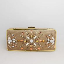 New design PU beaded evening bag