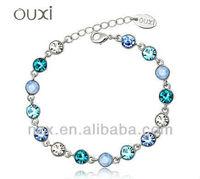 OUXI 2015 Wholesale new design crystal bead fashion bracelet 30202