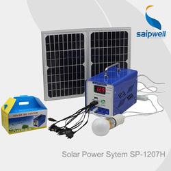 Saip/Saipwell HOT Sale Green Energy Solar Home System Mini Solar Power System For Home Use 20W/60W/120W/500W/1000W/1500W/2000W