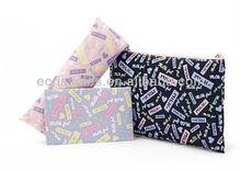 Fresh letters waterproof promotional secries cosmetic bag / pencil / paper towel package bag