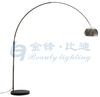 Floor Arc Lamp with Marble Base in Chrome Finish