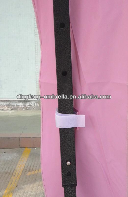 Promocional de color rosa gazebo plegable de la tienda con exterior tienda de campaña para la venta