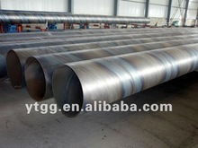 ERW Spiral Carbon Steel Pipe used for Petrol,gas,water pipe,construction,chimney pot