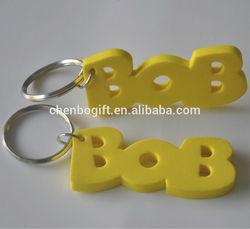 OEM Custom shaped Foam eva key chain / eva floating key holder / floatable keychain