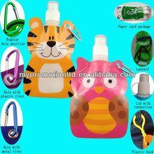 Trendy 300ml animal shape sports water bottle carrier