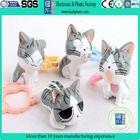 plastic cat shaped animal figure/cute 3d plastic animal figure/pvc animal figures model toy