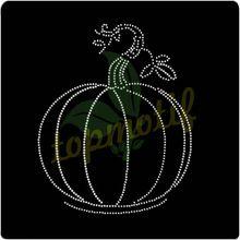 Unique Halloween Transfer Rhinestone Designs Pumpkin Hot-Fix Transfer Motif For Clothing