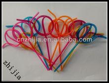 Pvc plastic crazy drinking straw