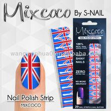 2014 new nail polish strips,nail polish sticker,100% real nail polish