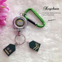 Custom made metal zinc alloy keychain