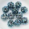 10*12MM Dark Blue AB Handmade Hot Sale Solid Resin Rhinestone Chunky Beads