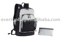 Custom design black and white laptop back bag for men