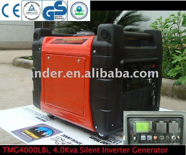 4.0 kva silenzioso generatore inverter, onda sinusoidale pura