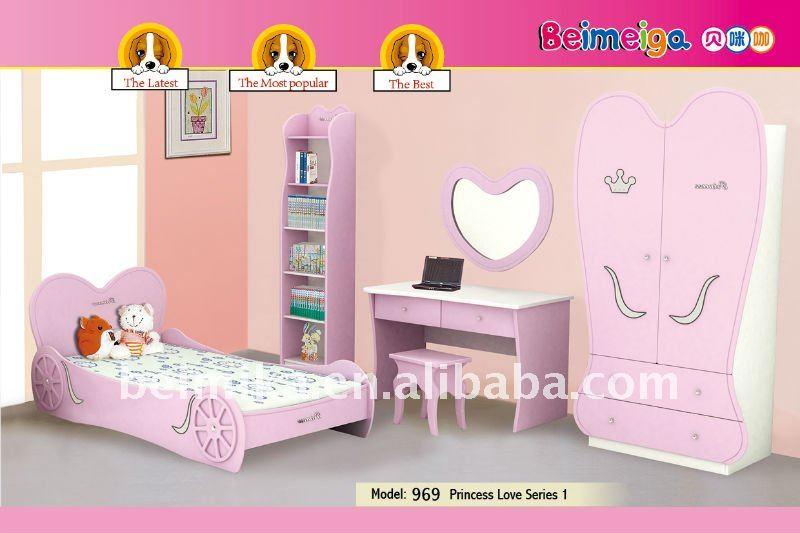 Caliente la venta de los niños muebles MDF de la princesa amor de las