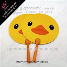 2015 hot sale promotional plastic 7 folding pp fan / plastic hand fan