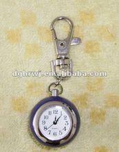 zinc alloy keychain with watch