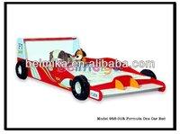 MDF Sport Car Beds Hot Sale Red Color Formula One Car Bed for Kids 958-01R