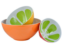 100% Melamine Fancy Antique Fruit Bowls