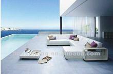 Diwan Pool Side Modern Design Sofa sets/White Rattan Furniture