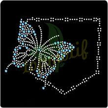 Fashionable Butterfly Hotfix Korean Rhinestone Transfer Clothing Embellishment