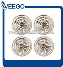 "8"" Golf Cart Hub Cap Wheel Cover - 10 Spoke SS Chrome Hubcaps for EZGO/Clubcar/Yamaha"